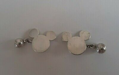 £25 • Buy Rare Sterling Silver Disney Mickey Mouse Cufflinks With Ball & Chain