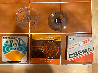 £19.99 • Buy Job Lot 3 Reel To Reel Tapes And 2 Empty Reels