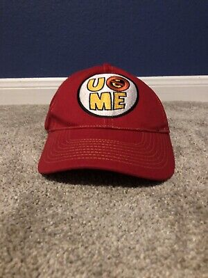 £7.27 • Buy John Cena You Cant See Me Hat Red ⚡️ WWE Red Cap EUC Wrestler Kids Youth Snaphat