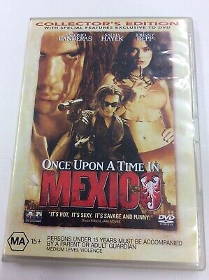 AU4.15 • Buy Once Upon A Time In Mexico - Region 4 DVD - Johnny Depp - Great Cond - FREE POST