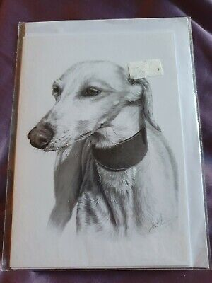 £2.49 • Buy Whippet Greetings Card Dog Card Dogs Whippets Birthday Card Blank Card Art Card