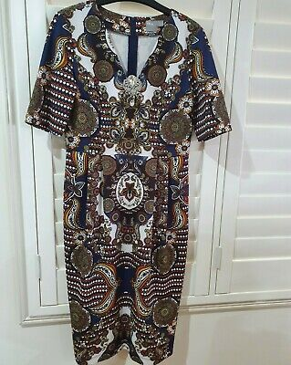 AU15 • Buy ASOS Dress Size 12, Multicoloured, Very Comfy Dress, Immaculate Condition!