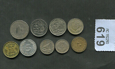 £5 • Buy  Set Of  9  Coins Of   Mixed  Arab Countries