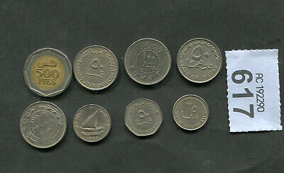 £4 • Buy  Set Of  8  Coins Of   Mixed  Arab Countries