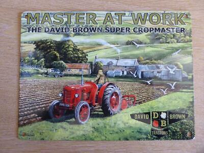 £12 • Buy 1950s David Brown Super Cropmaster Metal Plate Classic Tractor Ploughing Fields
