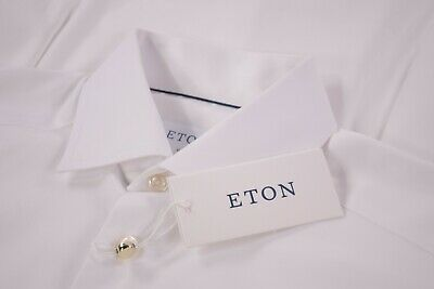 £109.68 • Buy Eton NWT Dress Shirt 14.5 37 Slim Fit In Solid White Signature Twill French Cuff