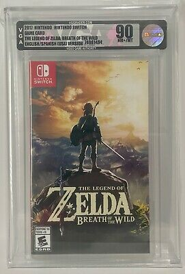 AU602.11 • Buy 2017 Nintendo Switch The Legend Of Zelda Breath Of The Wild Game Graded VGA 90 A