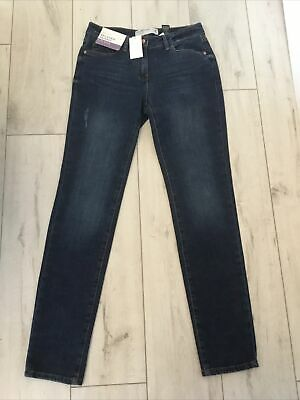 £12.99 • Buy Ladies Next Relaxed Skinny Mid Rise Stretch Jeans .. Size 8l .. Blue .. Bnwt