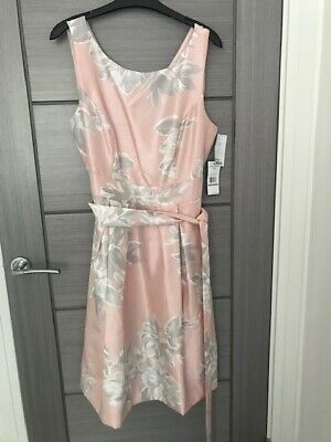 £10.99 • Buy Jessica Howard Pink And Grey Floral  Belted Dress. UK Size 14/16 Brand New