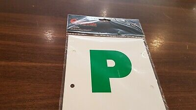 £0.05 • Buy 3 X Halfords MAGNETIC NEW DRIVER GREEN P PLATE PLATES CAR VEHICLE