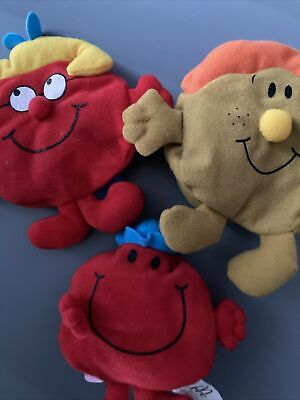 £6.50 • Buy McDonalds  Interchangeable Mr Men  And Little Miss Plush Happy Meal Toys  X 3