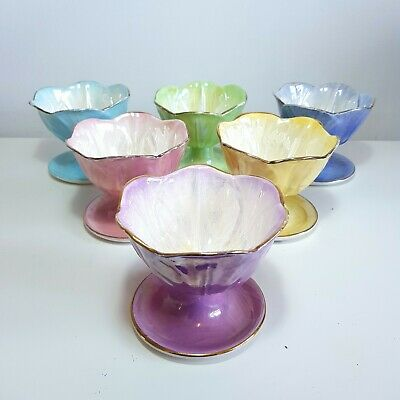 £70 • Buy Complete Set Of 6 Lustre Harlequin Bowls By Maling, Circa 1950s