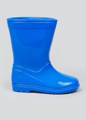 £9.99 • Buy Boys Blue Wellington Boots Wellies Size 5 To 9 Children Kids NEW