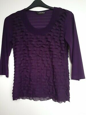 £0.99 • Buy Forever By Michael Gold Pure Ruffle Top, Size M, New Without Tags