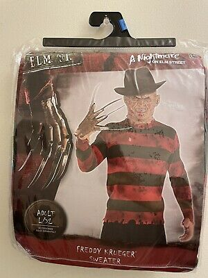 £25.56 • Buy A Nightmare On Elm Street Freddy Kruger Adult Sweater Costume  Size : L / XL