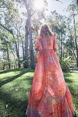AU228.63 • Buy New Free People Watercolor Wishes Maxi Dress Size M $298