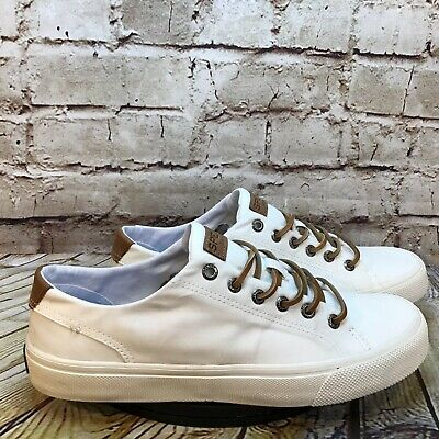 £25.57 • Buy Sperry Top Sider Men's White Canvas Leather Lace Low Casual Sneakers Size 8