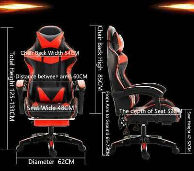 AU149.99 • Buy Gaming /office/ Racing Chair With Padded Footrest