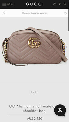 AU999 • Buy Gucci GG Marmont Matelasse Small Shoulder Bag Dusty Pink Leather RRP $2,150