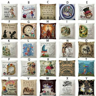 £3.91 • Buy DIY Alice In Wonderland Cotton Linen Cushion Covers Pillow Case Throw Home Car