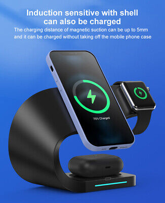 AU50.91 • Buy 4 In 1 Wireless Charging Station Charger Dock Pad For AirPods IPhone Apple Watch