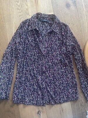 £4 • Buy BM Collection Ladies Pleated Blouse Pink & Black Size 12