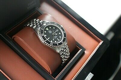 View Details  Tag Heuer Night Diver Black & Silver , Boxed  , Superb Condition.980.013B • 835£