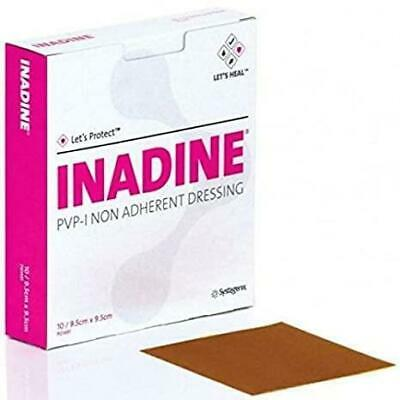 £1.99 • Buy Inadine Non Adherent Wound Dressing 5cm X 5cm Pack Of 1 5 10 20 Or 25 Pov-Iodine