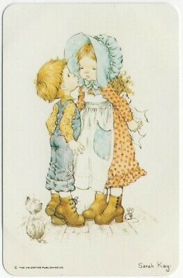 AU4 • Buy Sarah Kay BOY Kissing A GIRL & CAT & MOUSE Blank Back Swap Playing Card