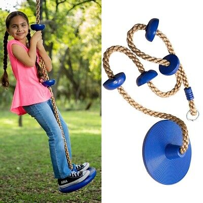 £0.01 • Buy Kids Outdoor Swing Disc Seat Climbing Rope With Platforms Jungle Rope Gym Fitnes