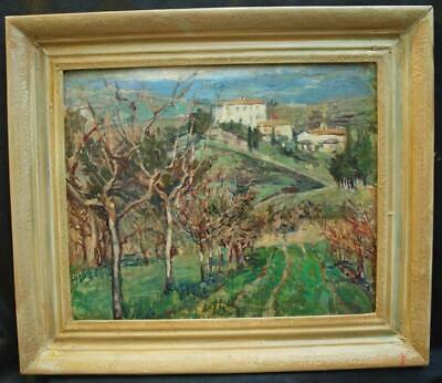 £101 • Buy C1900 FRENCH IMPRESSIONIST  PROVENCE LANDSCAPE   Antique Oil Painting