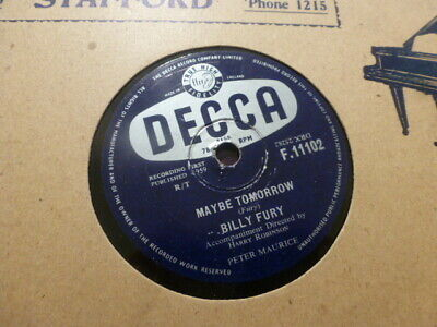 £5.50 • Buy Billy Fury Maybe Tomorrow / Gonna Type A Letter 1959 Decca F.11102 78rpm