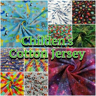 £10.50 • Buy Children's Jersey Fabric Patterned Cotton 4 Way Colourful Stretch Knit Dress #2