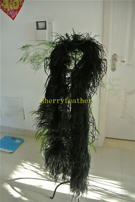 £52 • Buy Ostrich Feather Boa 5 Ply Ones Black Color