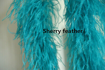 £52 • Buy Ostrich Feather Boa 5 Ply Ones Teal Blue Color