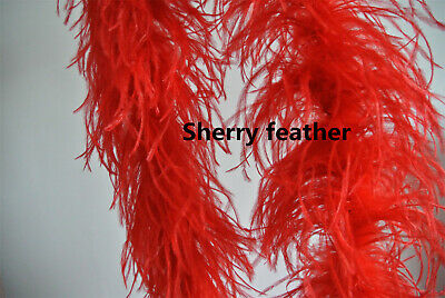 £42 • Buy Ostrich Feather Boa 4 Ply Ones Red Color