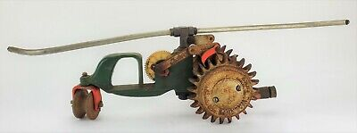 AU137.98 • Buy Vintage Cast Iron Tractor Walking Lawn Sprinkler A5 Green National Lincoln 953
