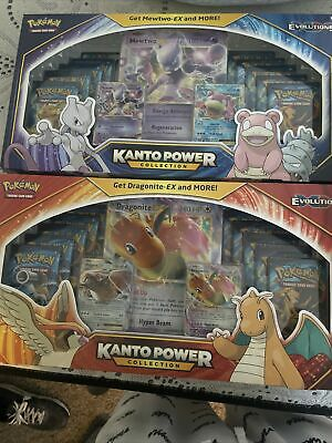 $650 • Buy Kanto Power Collection Box Mewtwo EX XY Evolutions And 2 Hidden Fates Etbs