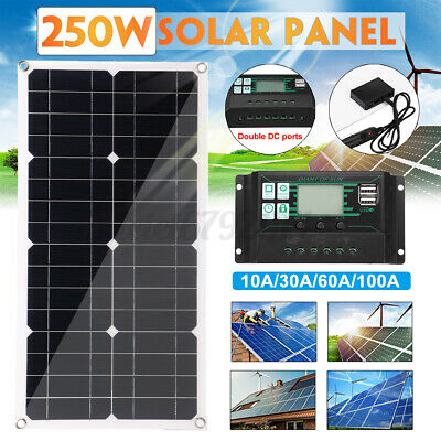 £38.75 • Buy Solar Panel Battery Charge 30A 60A 100A Controller 18V LCD Regulator Dual USB