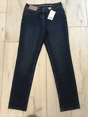 £11.99 • Buy Ladies Next Relaxed Skinny Mid Rise Stretch Jeans ..size 6r .. Blue .. Bnwt