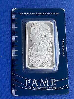 £50 • Buy Lady Fortuna Pamp Suisse 1oz Silver Bar Serial No 074188