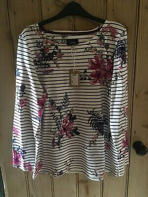 £0.99 • Buy Joules Plum & White Harbour Top Size 16