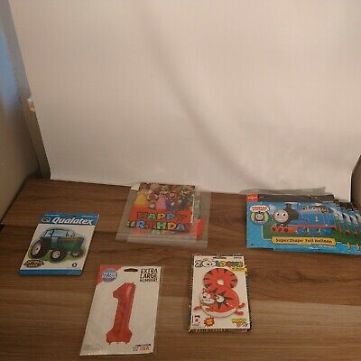 AU56.57 • Buy Lot Of 10 Mylar Balloons Thomas The Train Super Mario Tractor Number 1 And S Cat