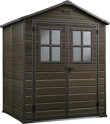 £552.29 • Buy Keter Scala Outdoor Plastic Garden Storage Shed Brown 6 X 5 Ft NEW