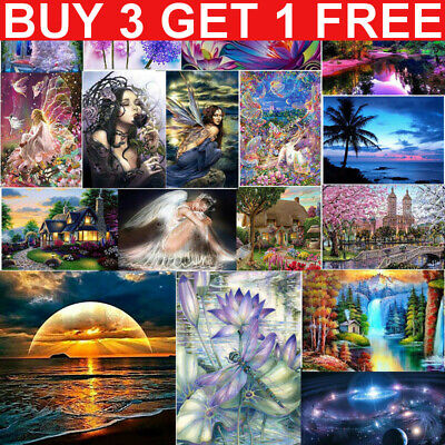 £4.99 • Buy 5D Full Drill DIY Diamond Painting Art Embroidery Cross Stitch Mural Home Gift