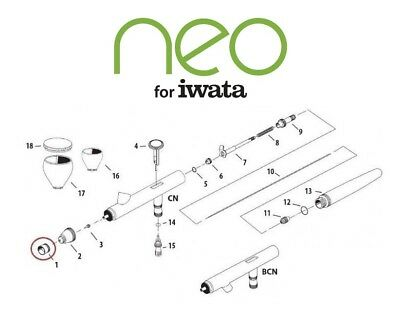 £8.95 • Buy Parts Iwata For Airbrush Neo HP Cn, Bcn - Choose The Replacement
