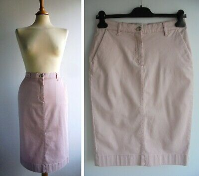 £17.99 • Buy PURE COLLECTION Pink Cotton Elastane Denim Chino Style Skirt Size 10
