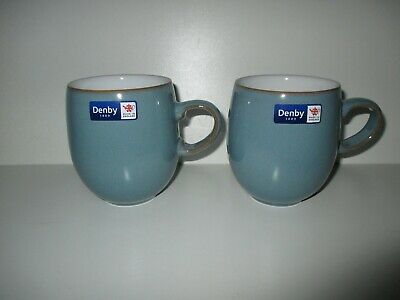 £36.50 • Buy Denby Pottery Azure 2 X Large Mugs New First Quality Excellent Condition