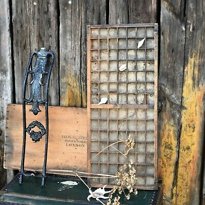 AU128.73 • Buy Antique Printers Tray Letterpress Wooden Printer Drawers Print Reclaimed Salvage