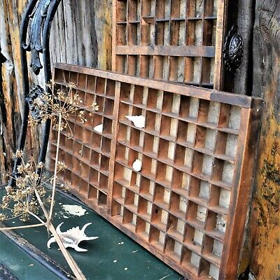 £70 • Buy Antique Fredk Ullmer Printers Tray Letterpress Printer Drawers Reclaimed Salvage
